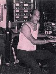 A rare Picture of King Tubby at the console