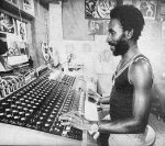 Lee 'Scratch' Perry at Black Ark Studio during the early 70's