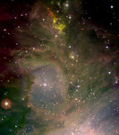 Close-up of Orion's gas clouds.